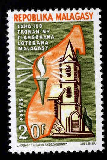 Madagascar Scott 403 MH* 1967 church stamp