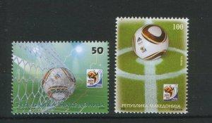 MACEDONIA-SOUTH AFRICA-MNH** SET-FOOTBALL-SOCCER-2010.