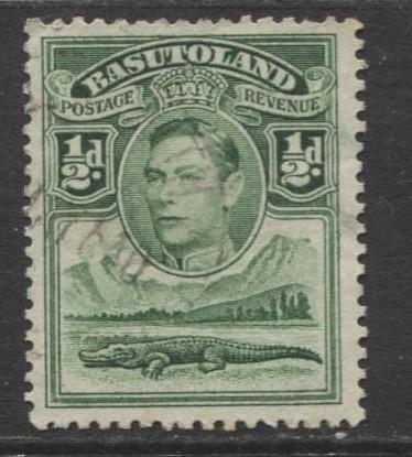 Basutoland - Scott 18 - KGVI-Definitive Issue -1938 - Used - Single 1/2d Stamp