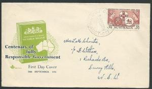AUSTRALIA 1956 Responsible Government commem FDC...........................41029