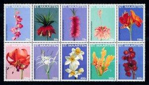 [SM292] St. Martin Maarten 2015 Flora Flowers Blumen  MNH