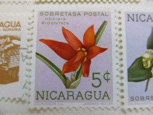 Nicaragua 1962 Orchids 5c fine mng postal tax stamp A11P11F92