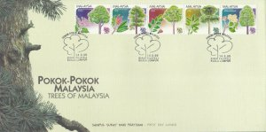 Trees Of Malaysia 1999 Plant Flower Leaf Flora Forest (stamp FDC) *see scan