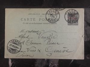 1897 Tanger Morocco Postcard Cover To Geneva Switzerland
