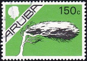 Aruba # 15 used ~ 150¢ Watapana Tree