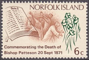 Norfolk Island # 145 mnh ~ 6¢ Martyrdom of St. Stephen, Knotted Palm Fronds