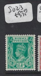 BURMA (P0304B)    KGVI  1 1/2A  SG 23    MOG