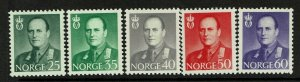 Norway SC# 408-412, Mint Hinged, Hinge Remnant - S9410