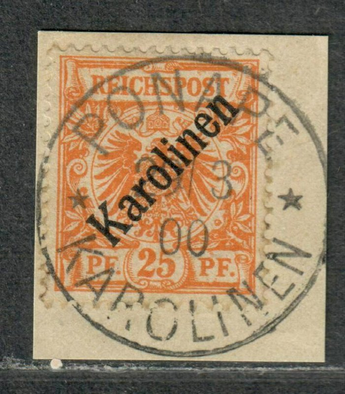 German Colony Caroline Islands Sc#5a Used/F-VF, On Piece Signed, Cv. $3100