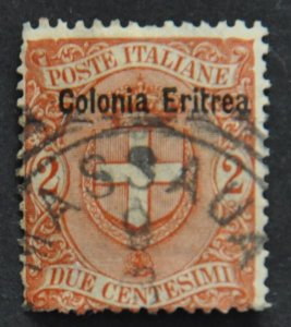 DYNAMITE Stamps: Eritrea Scott #13 – USED