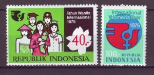 J21069 Jlstamps 1975 indonesia set mh #942-3 womans year