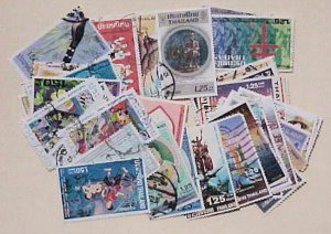 THAILAND STAMPS 94 DIFF. USED #1B/11/2B  LARGE  COMMEMORATIVES   CAT.$45.00