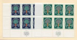 United Nations, 81-82, World Forestry MI Blocks(6),MNH