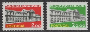 PORTUGAL SG1572/3 1975 OPENING OF PORTUGUESE CONSTITUENT ASSEMBLY MNH