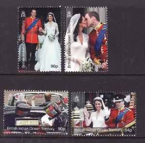 BIOT-Sc#427-30-unused NH set-Royal Wedding-Prince William & Kate-2011-