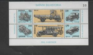 SWEDEN #1334  1980 AUTOMOBILE INDUSTRY      MINT VF NH O.G S/S