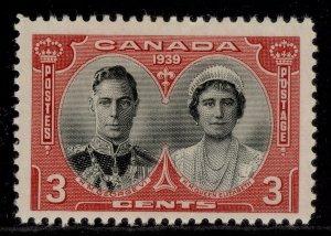 CANADA GVI SG374, 3c black & carmine, M MINT.