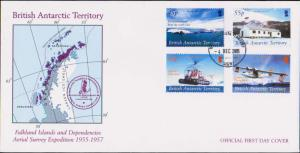 British Antarctic Territory Scott 353-356 Unaddressed.