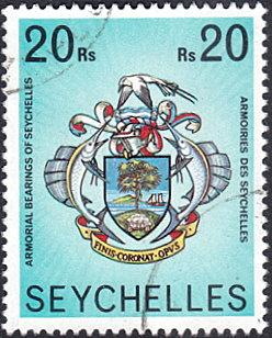 Seychelles # 403 used ~ 20r Arms