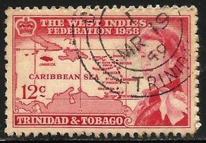 Trinidad and Tobago 1958 Scott# 88 Used