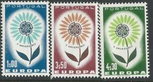 Portugal # 931-33 Europa - 1964  Common Design  (3) Mint NH