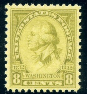US SCOTT #713, Mint-XF-OG-NH Graded 90 PSE Certificate SMQ $22 (DFP)