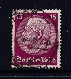 Germany a 15pf claret Hindenburg used with mesh watermark