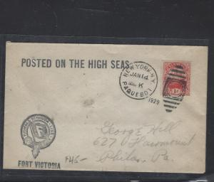 BERMUDA  (PP1207B)   1929   PAQUEBOAT COVER SHIP 1D   TO USA