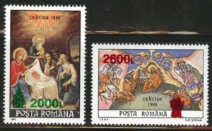 ROMANIA Scott 4249-50 MNH** overprint 1998 stamps