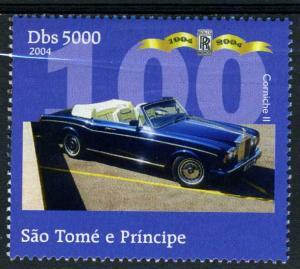 SAO TOME & PRINCIPE 2004 Rolls Royce Corniche II set 1v Perforated mnh.vf #7