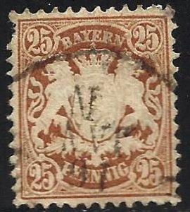 Bavaria 1876 Scott# 43 Used (left border)