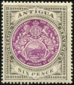 Antigua SC# 36 SG# 48 Colonial Seal 6d  WMK 3 MH
