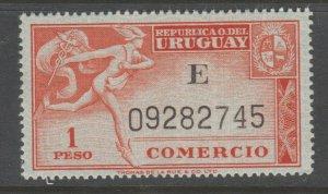 Uruguay revenue Fiscal stamp 10-9-20T MNH Gum a25