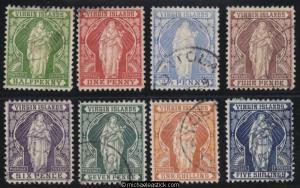 1899 British Virgin Islands ½d - 5/- set of 8, SG 43 - 50, used