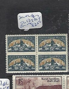 SOUTH AFRICA   (P3008BB)  GOLD MINING SMALL FORMAT SG 127 BL 4  MNH
