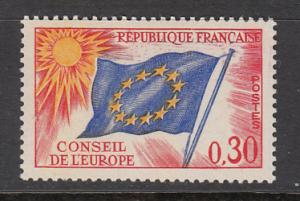 France Council of Europe SC# 1O11  1965 Flag MH