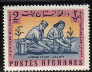Boy & Girl Scouts, Afghanistan stamp SC#668 Mint