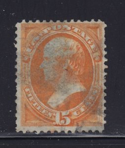 141 F-VF used neat cancel PSE cert light crease nice color cv $ 1600 ! see pic !