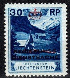 Liechtenstein #O4 F-VF Unused CV $17.50   (X733)