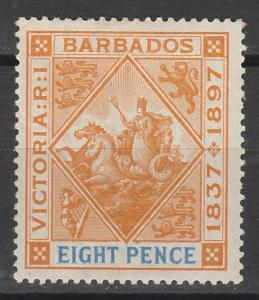 BARBADOS 1897 QV JUBILEE 8D