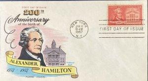 FLUEGEL 1086 Alexander Hamilton 200th Birthday New York