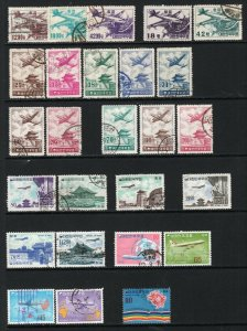Korea 1952-74 Selection of 26 Airmail Stamps Used CV$110