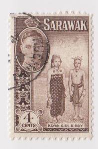 Sarawak -Scott 183 - KGVI Definitives - 1950 - VFU - Single 4c Stamp