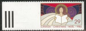 Canada Scott 1116 Christmas 1986 Angel MH*