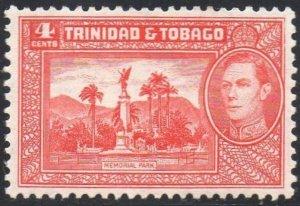 Trinidad & Tobago 1941 4c Memorial Park MH
