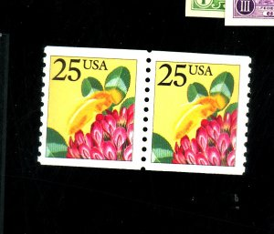 2281B MINT Pair Black Omitted on Bee VF NH Cat$90