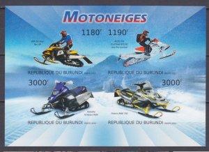 2012 Burundi 2933-2936KLb Cars - Snowmobile 15,00 €