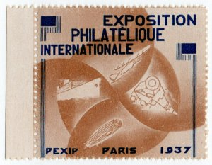 (I.B) France Cinderella : International Philatelic Exhibition (Paris 1937)