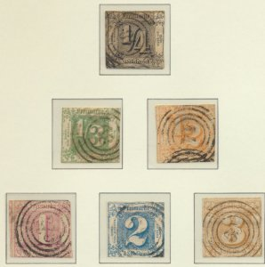 Thurn and Taxis Stamps Scott #15 To 20, Used - Free U.S. Shipping, Free World...