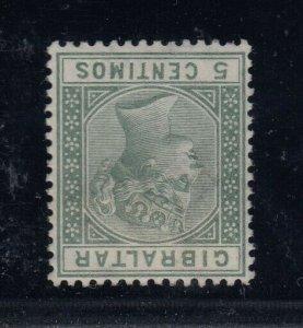 Gibraltar, SG 22w, used Inverted Watermark variety